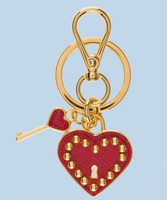 portachiavi Prada cuore con chiave san valentino