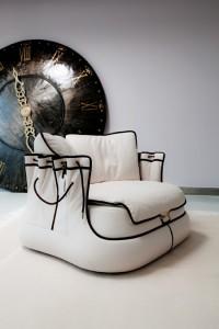 poltrona Bag Chair San Babila di Samuele Mazza per Tosca Blu design week Milano 2012