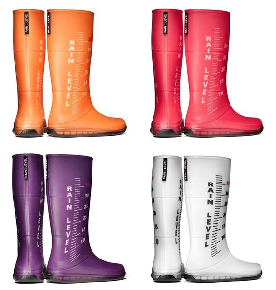 sale retailer 44334 87a80 Rain Level: gli stivali che misurano la pioggia! (foto) | Drezzy
