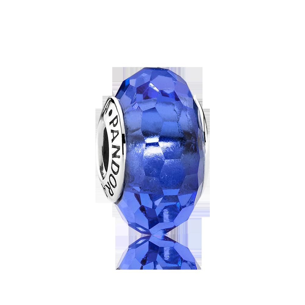 charm pandora pietra blu