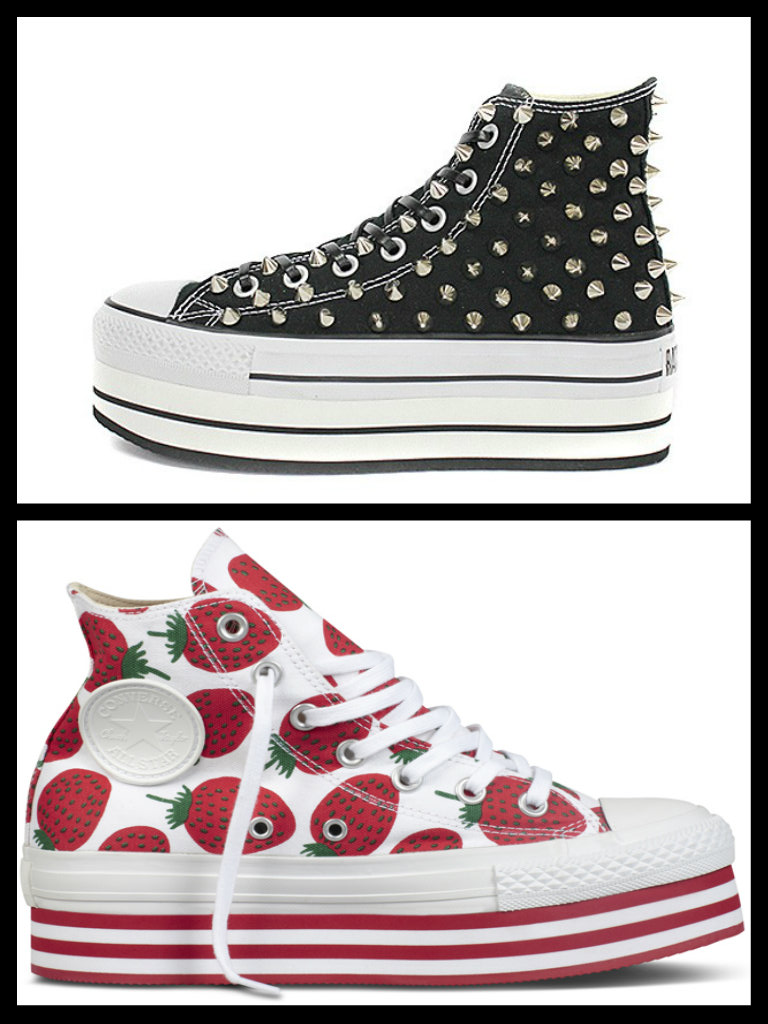 converse all star donna alte con zeppa