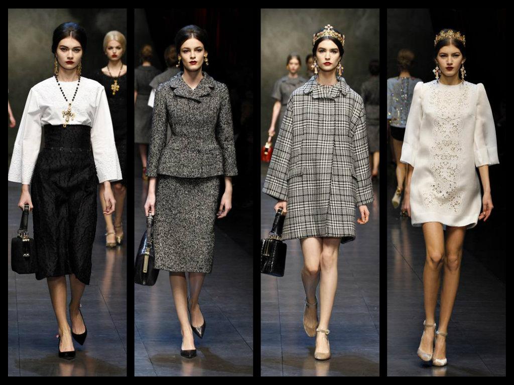 dolce e gabbana sfilata collezione autunno inverno 2013 2014 milano fashion  week fea76baf5d9