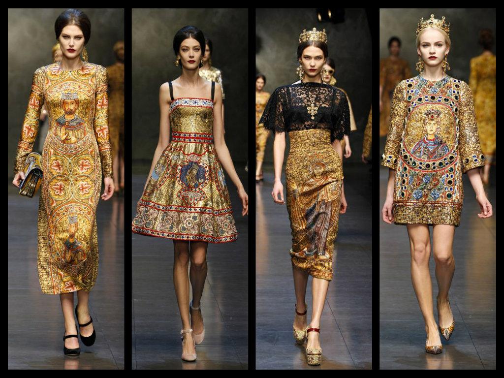 dolce   gabbana collezione autunno inverno 2013 2014 abiti mosaico milano  fashion week 2a24bf3a22c