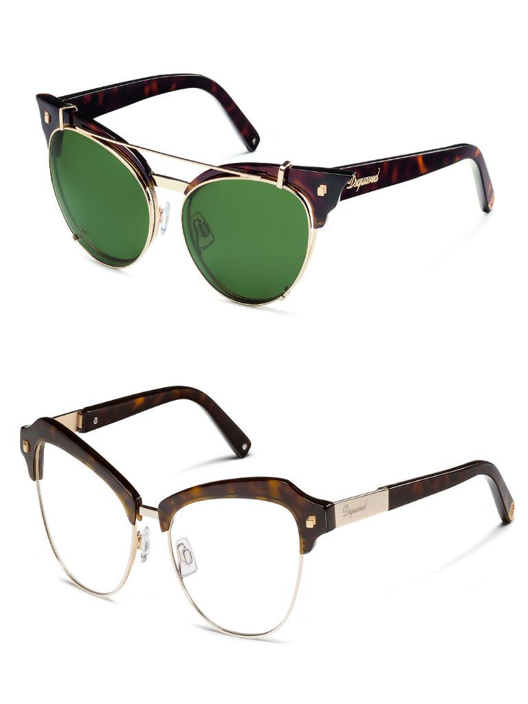 Dsquared2 occhiali i modelli doppi cool cats modalab for Occhiali da sole montatura in legno