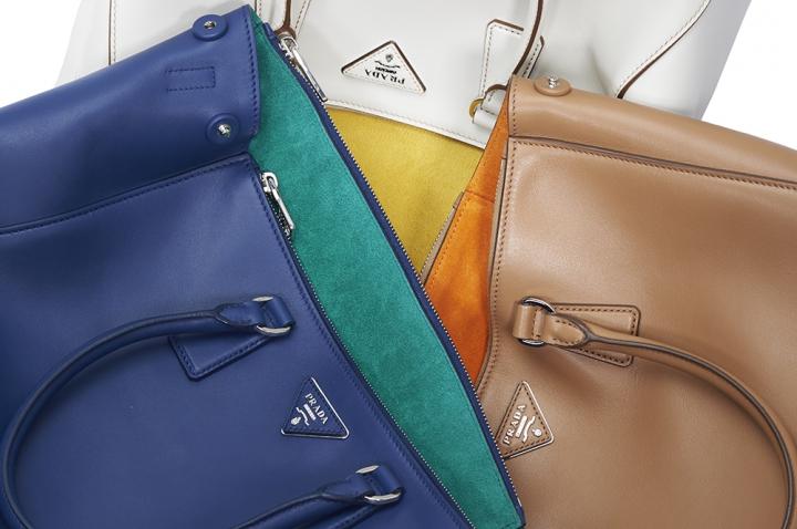 borsa prada galleria bicolor doppia tasca