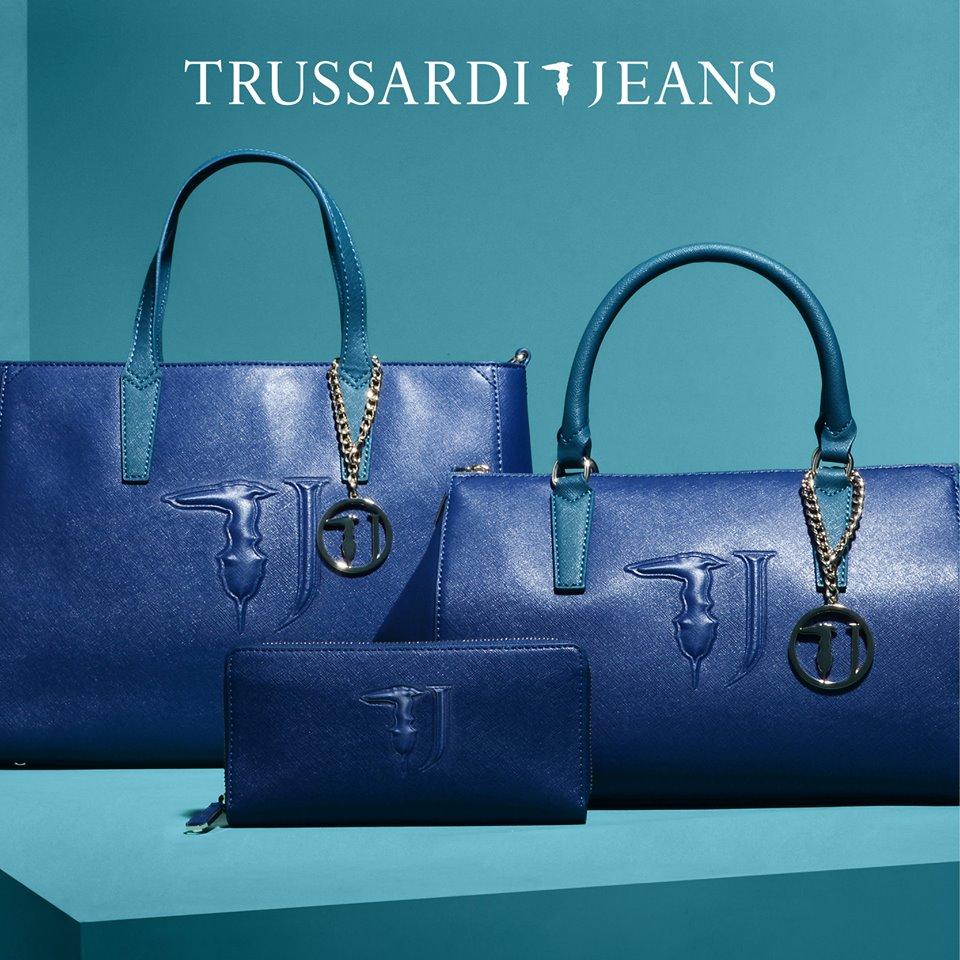 trussardi jeans it bag borsa shopping