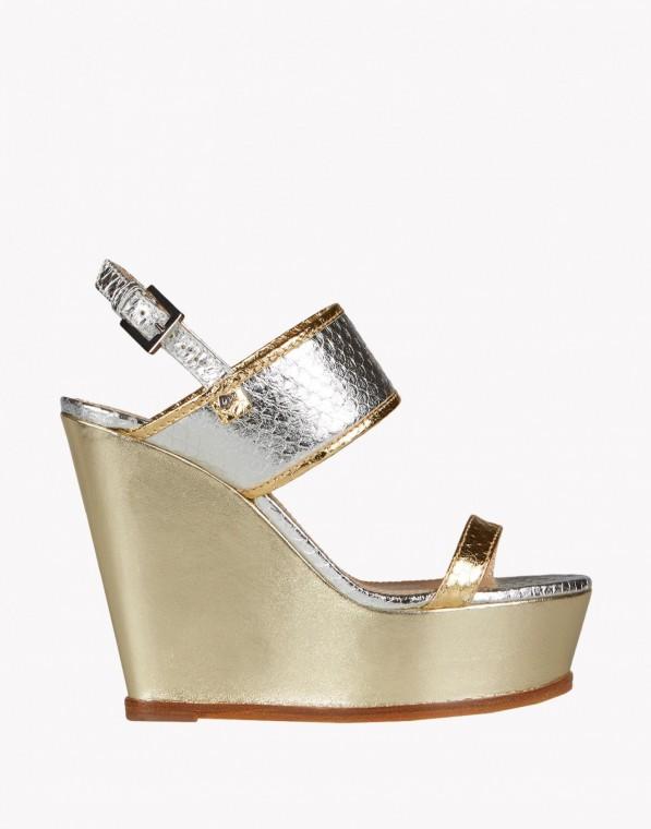 innovative design 2373c 3b3b8 DSQUARED2 scarpe: nastri e zeppe per la collezione primavera ...