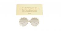 occhiali da sole chloè carlina versione oro
