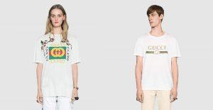 gucci t shirt con logo gg e banda web verde rosso verde