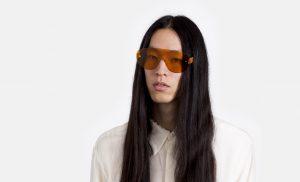 super occhiali da sole a mascherina arancioni modello palma primavera 2017