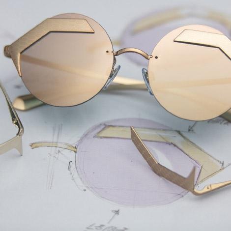 Oro Bulgari SnakeDrezzy Lenti Dettaglio Occhiali Tondi Specchiate 2H9DWIYE