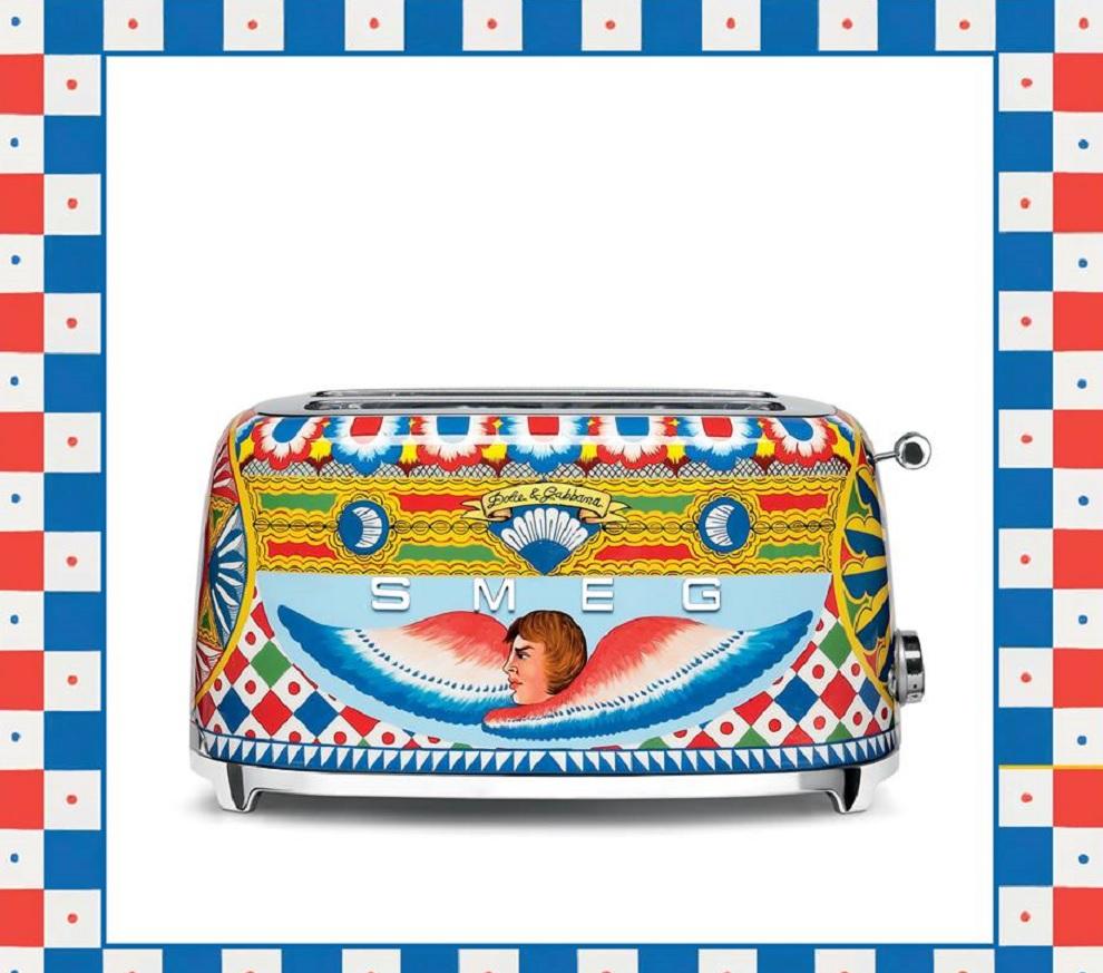 Tostapane smeg disegni siciliani dolce e gabbana drezzy for Smeg dolce e gabbana