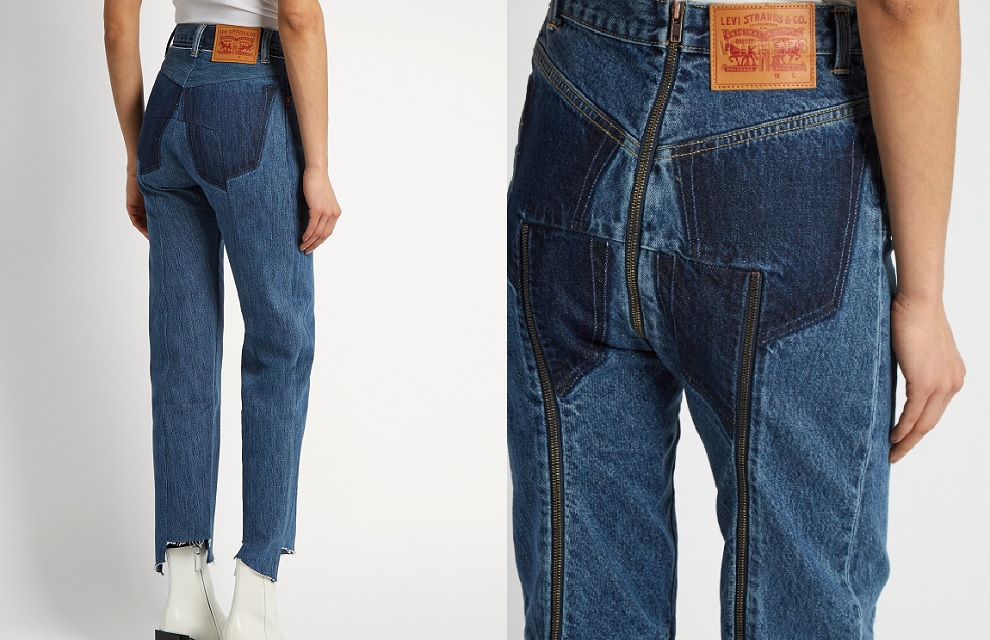 E Sul Levi'scon Sulle Zip Jeans Gambe Vetements Sedere nqFXUgxxv