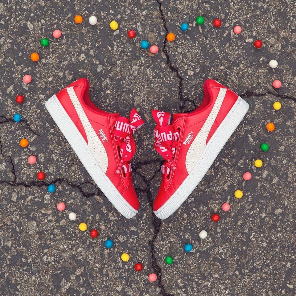 puma heart rosse