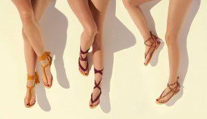 eres sandali con lacci in stoffa