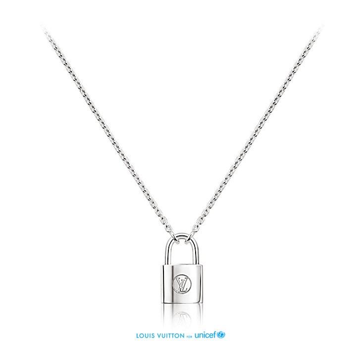 nuovo stile 795c7 6eaca collana-con-ciondolo-lucchetto-louis-vuitton-unicef-make-a ...