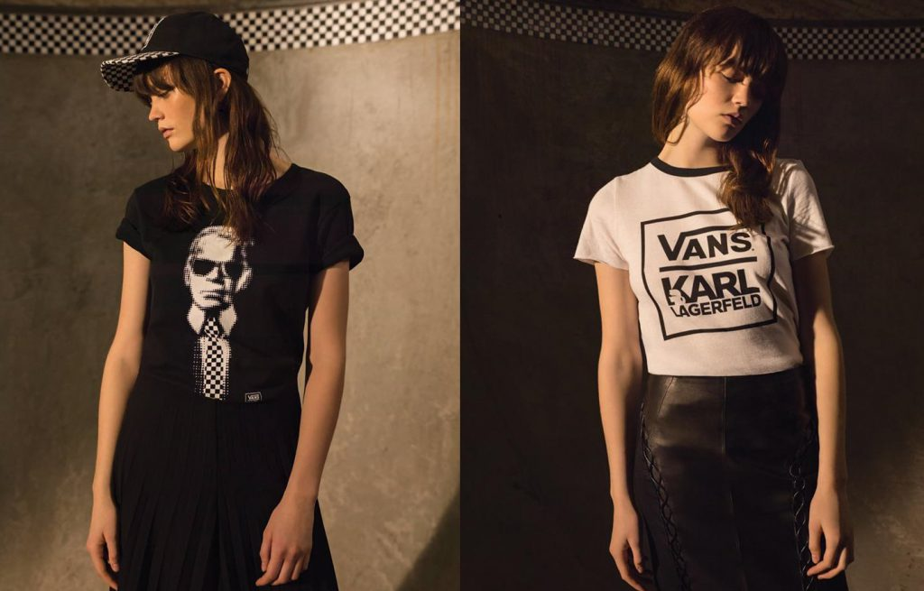 t-shirt karl lagerfeld vans capsule collection