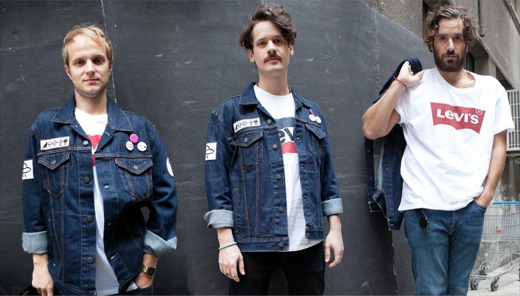 jeans giubbino trucker jacket thegiornalisti levi's personalizzato SwI4x7Rq0