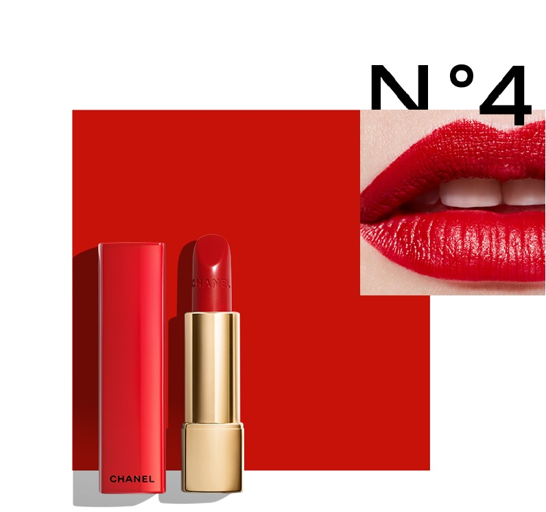 rossetto rosso chanel limited edition numéros rouge n4
